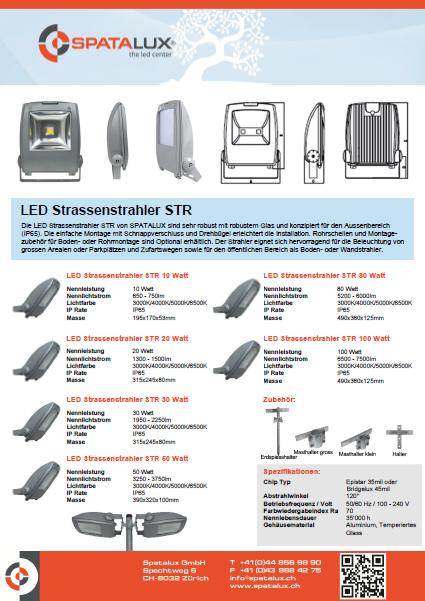 led strassenstrahler 30 watt str robust f r den. Black Bedroom Furniture Sets. Home Design Ideas