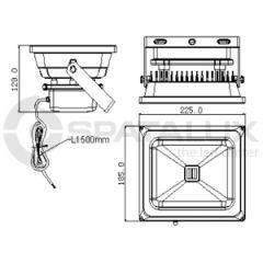 led strahler 30 watt br f r innen und aussenbereich. Black Bedroom Furniture Sets. Home Design Ideas